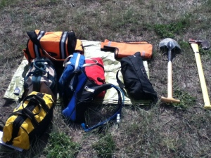 While some trips don't require this much recovery gear, trips on backcountry byways requirs that you go completely preparred