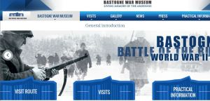 Screen shot of the website for the museum in Bastogne